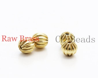 100 Pieces Raw Brass Bead Spacer - 4mm (1831C-U-34)