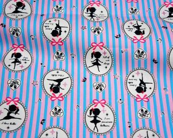Japanese fabric Ballerina print (lb1C)