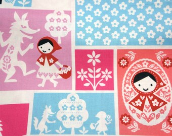 Japanese fabric fairy tales selection Little red riding hood nc45