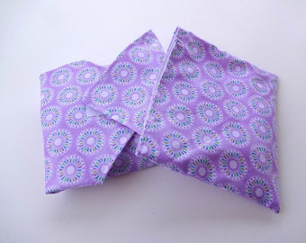 Purple Starburst Reusable Lunch Duo - Sandwich Wrap and Snack Bag