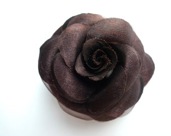 SMALL ROSE , Chocolate Brown  / 04
