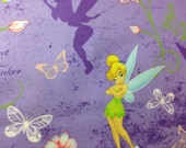NEW Unlined Window Curtain Valance Valances  homemade from Purple Tinkerbell Cotton fabric