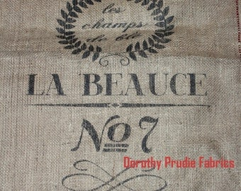 BURLAP Large FRENCH Grain Sack Bag