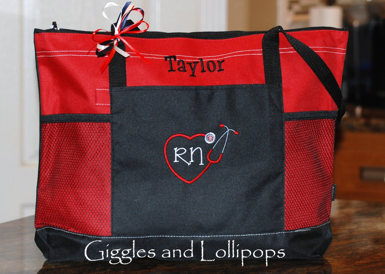 personalized tote bag personalized rn lpn bsn student