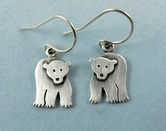 Tiny polar bear earrings