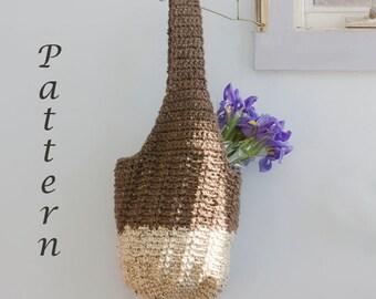 Market Tote  Pattern, Slouchy Bag Crochet Pattern PDF, Digital Download, Market Bag,Book Bag, Beach Bag