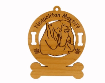 3588 Neapolitan Mastiff Personalized Dog Ornament