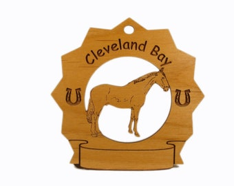 8087 Cleveland Bay Horse Personalized Wood Ornament - Free Shipping