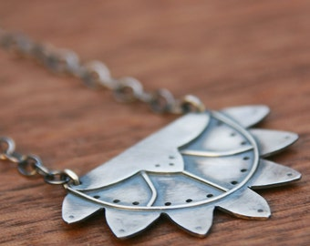Paris Necklace from the Zelda Collection, art deco-inspired silver