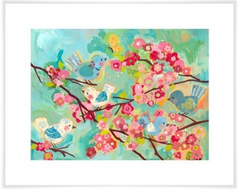 Art print - 100% archival paper & inks, giclee printing process cherry blossom
