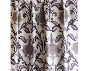 Purple Taj Damask Curtain 52 X84 Rod Pocket Curtain Panels Drapes Home  Living BedroomDamask Shower Curtain Etsy  Purple And Grey Shower Curtain