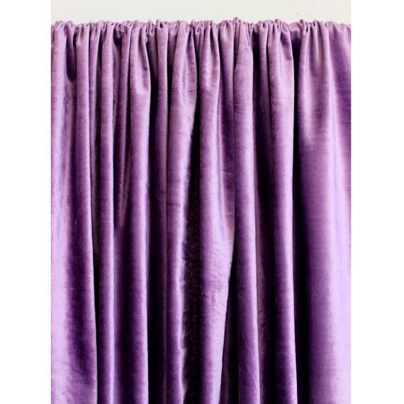 Purple Velvet Curtain 52x84 Rod Pocket Curtain