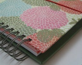 Greeting Card Organizer with Address Book and Birthday Reminder with Colorful Mums and Leaves Cover