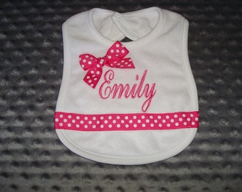 Emily Personalized BiB - Name or up to 3 Initials