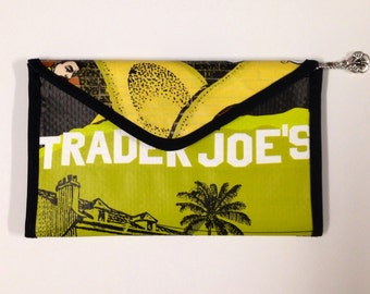 Trader Joe's Vinyl Wallet from Recycle Bag