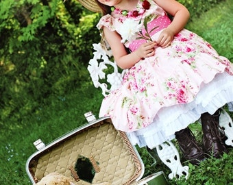 Tattered Petals and Pettiskirts PDF pattern, sizes 2T through size 8