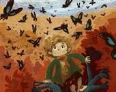 Butterflies Over Mirkwood 8x10 art print