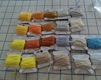 Embroidery Floss on cards - Mixed Colors - 18 cards