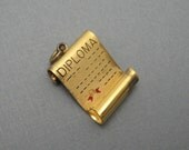 Vintage Sterling Diploma Charm Wells C5671