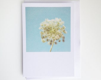 Floral Blank Greetings Card for Her - Luminous