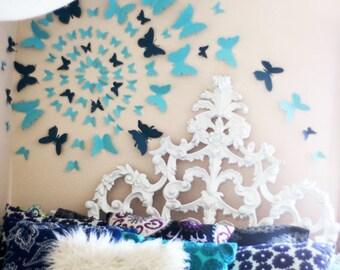 80 3D Butterfly Wall Art Circle Burst