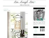 Premade Blogger Template - LIVE...LAUGH...LOVE - Mobile Responsive - Graphic Design - Blog Template