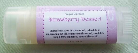 Strawberry Dessert Vegan Herbal Lip Balm