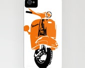 Vespa Scooter on Phone Case -  samsung galaxy S6, iPhone 5C, iPhone 6S, iPhone 6 Plus, Gifts for her, Vespa Gifts, Scooter Gift Ideas