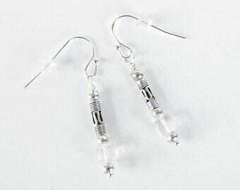 Silver Celtic Dangle Earrings for Females