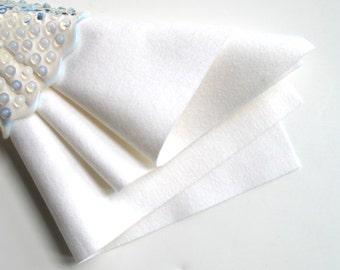 White Wool Felt, Choice of Size, 1mm Thick Felt, Merino Wool Felt, Waldorf Handwork, Wool Applique, DIY Felt Toys, Felted Wool, Felt Flowers