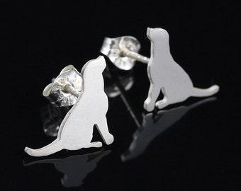 Rescue Mutt Sterling Silver Silhouette Earrings II