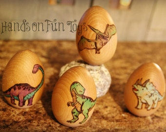 Set of 4 Dinosaur eggs- Made to order