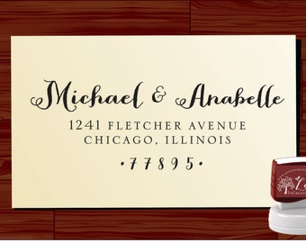 Custom  Return Address Stamp  - SELF INKING  - style 1280F-  personalized wedding or christmas gift