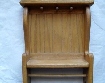 Oak Wall Hanging Cabinet Shelf