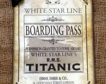 Titanic Ship Boarding Pass Ticket  Tags #387