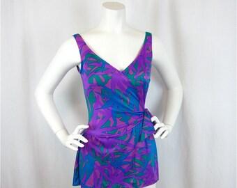 Vintage 60s Jantzen Swim Dress, Sz 10