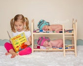 DIY Newborn Twins Traditional Photography Prop Posing Bunk Bed Mattresses and Ladder