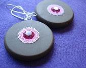 PIF - fuchsia sparkle earrings