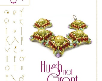 Bracelet tutorial / pattern HughNotGrant with superduo beads ..PDF instruction for personal use only