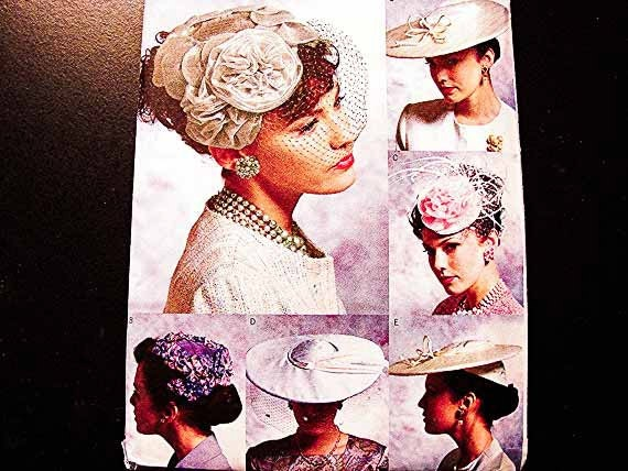 Vogue Womens Hat Pattern for sewing Vintage Style Retro 1950s UNCUT Spring Summer Hat Sewing Pattern