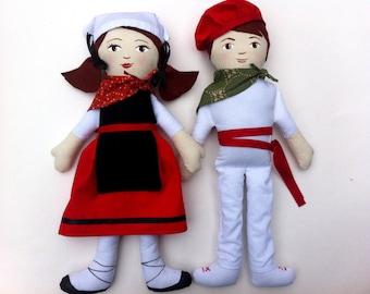 Custom Traditional Folk Costume Doll, Traditional Costume Doll, Folk Doll, Made To Order,