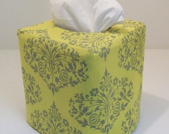 Tissue Box Cover - Park Fountains Reversible