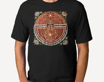 Psychic Map of the Mind Mandala Men's T-shirt, Thangka Unisex, Mens graphic tee, Gift for Him, Art T-shirt, Cool t-shirt