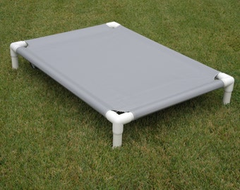 Elevated Bed, Water Repellant Dog Bed Canvas Bed Cover, PVC Frame Cot SEAGULL GRAY Dog Bed, Raised Bed, Camping Bed, Medium Bed, Large Bed.