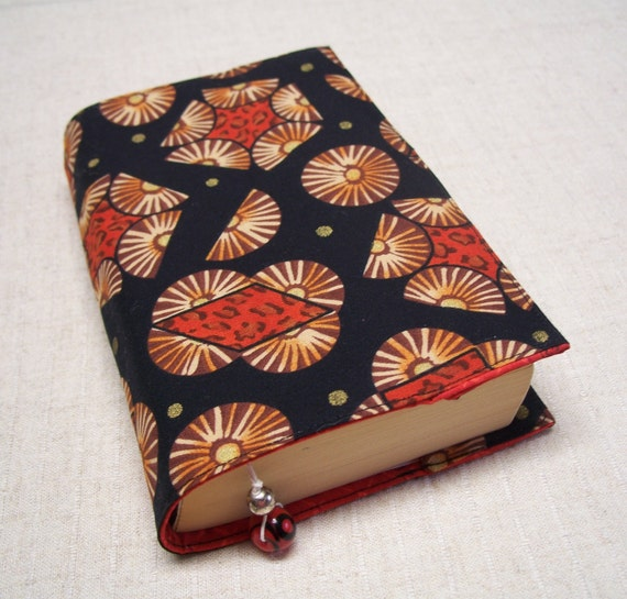 Fabric Paperback Book Covers ~ Small fabric paperback book cover african inspired