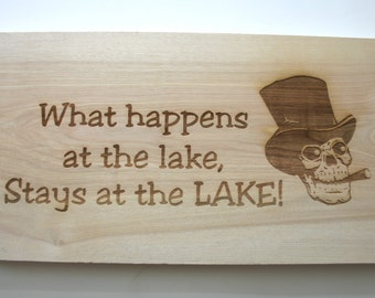 Personalized Birch Sign Custom Laser Engraved Wood Sign