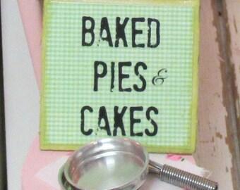 Bakery Sign-1:12 Scale Dollhouse Miniature