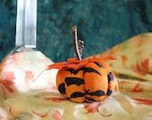 Handmade Pumpkin, Rustic PumpkinPumpkin, Teacher Gift, Halloween Decoration, Thanksgiving Decoration, Pin Cushion, Sewing, Home Decoration