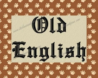 Old English Machine Embroidery Font