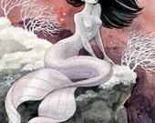 Pale Pink Mermaid - 8x10 print